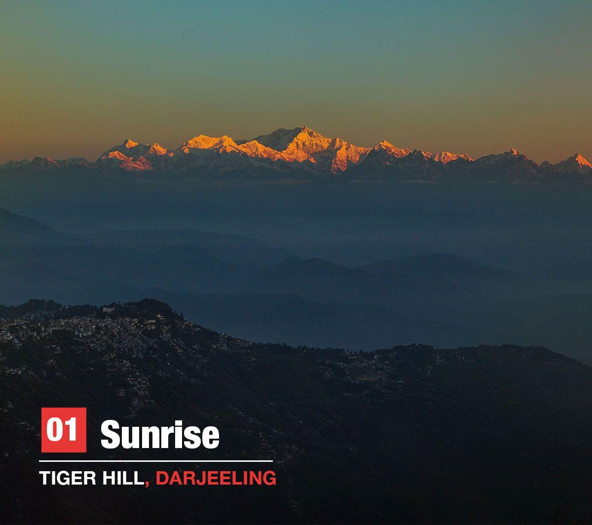 sun rise tiger hill Darjeeling