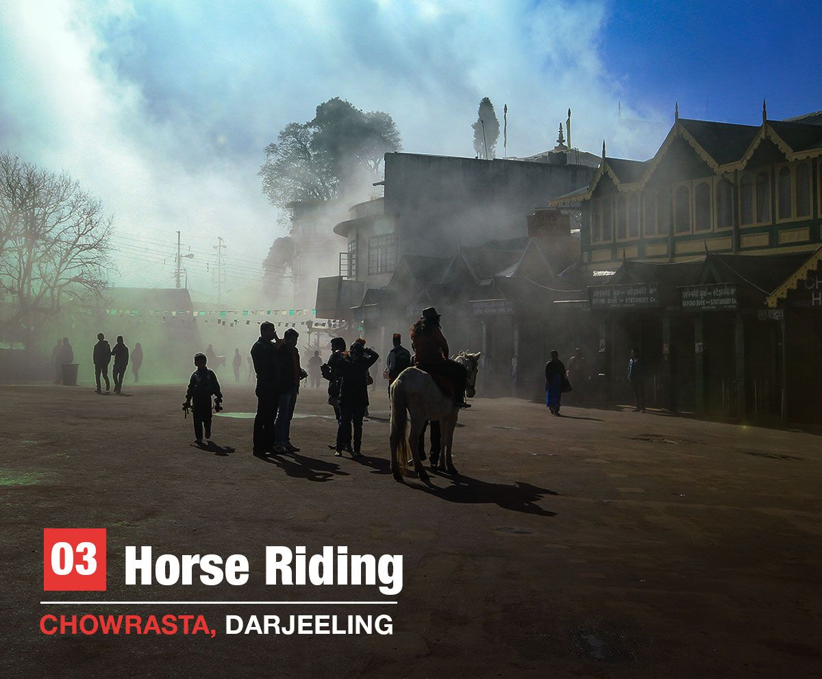 horse riding, Darjeeling