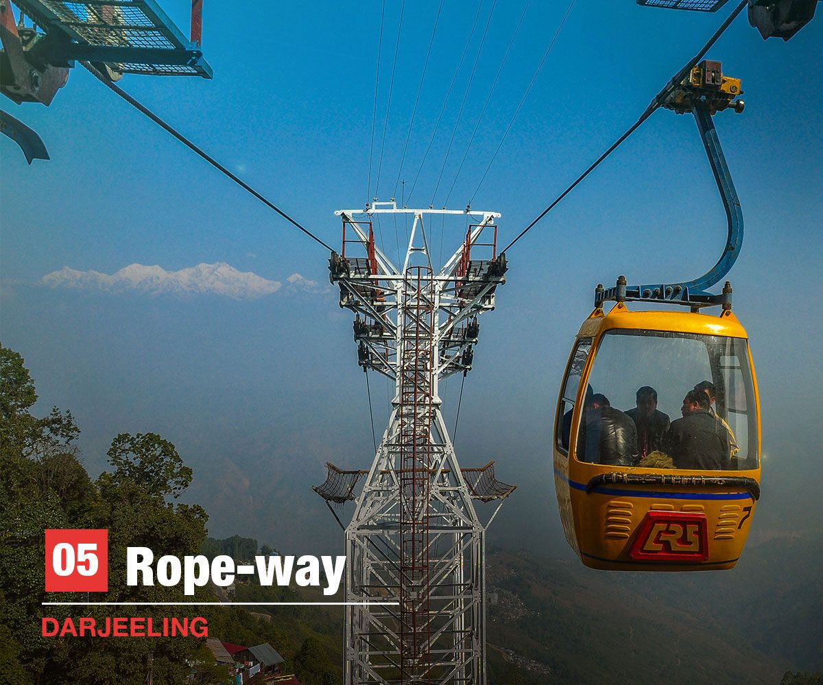 rope-way, Darjeeling